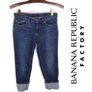 Banana Republic Factory Cuffed Cropped Jeans, 26/2